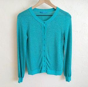 Alice + Olivia Sparkle Glitter Cardigan Sweater S